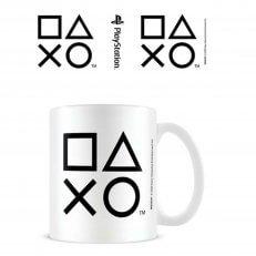PlayStation B&W Shapes Mug - 11oz - White