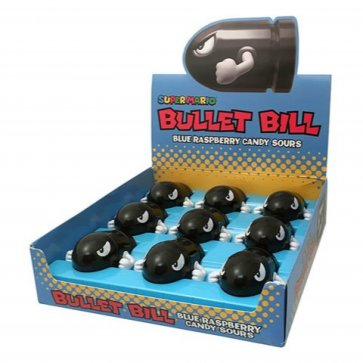 Super Mario Bullet Bill Candy Sours (9-Pack)