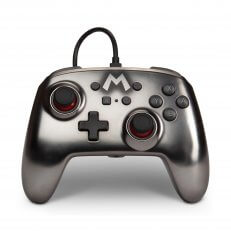 Switch Enhanced Wired Controller - Mario Silver