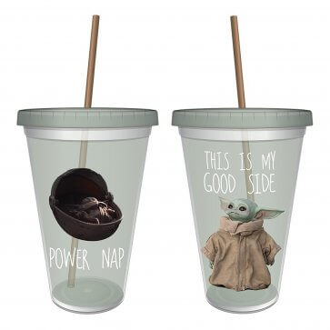 """Star Wars Mandalorian """"The Child"""" Good Side Travel Cup"""