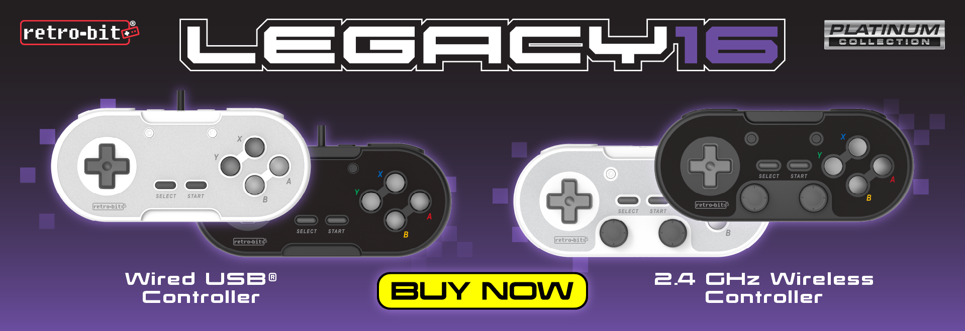 Legacy16 Wired USB and 2.4 GHz Wireless Controllers are here!