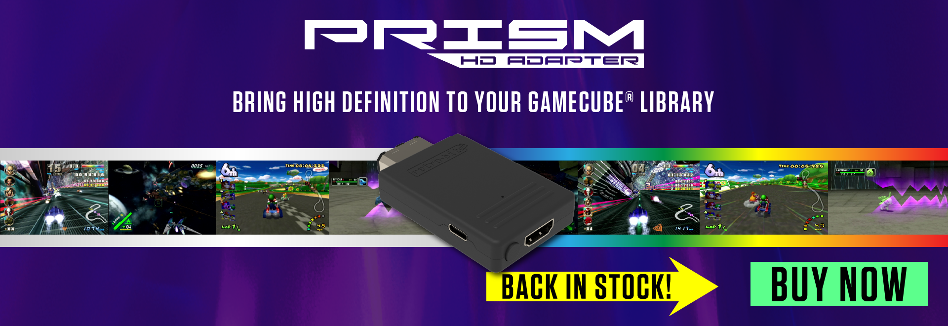 Retro-Bit Prism HD Adapter for GCN is back in stock!