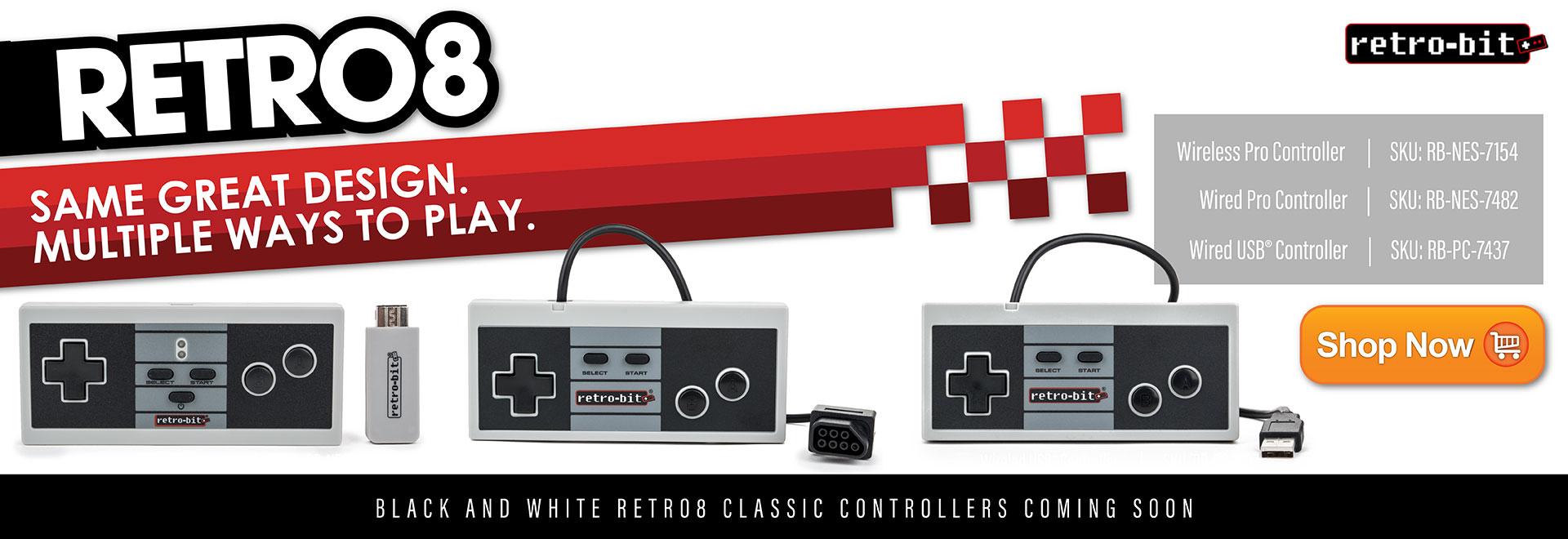 Retro8 Controllers