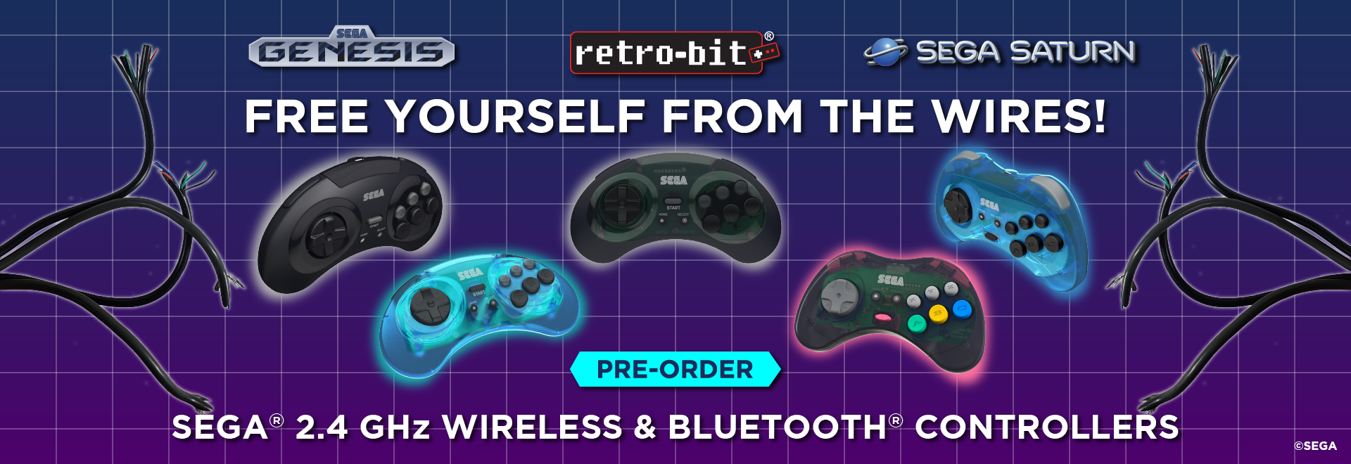 SEGA 2.4 GHz Wireless & Bluetooth Controllers Pre-Order