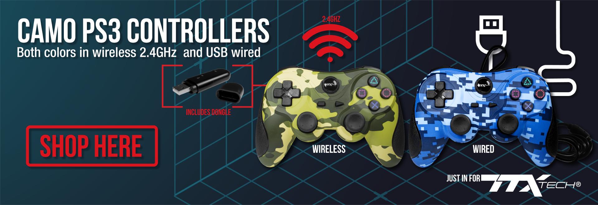 TTX Tech Camo PS3 Controllers