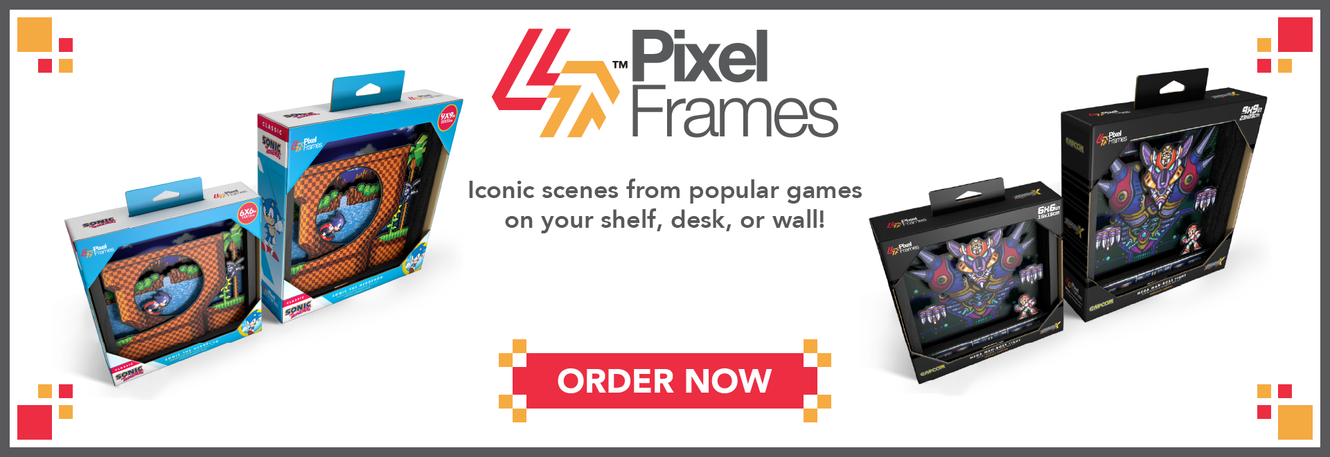 Pixel Frames Available Now