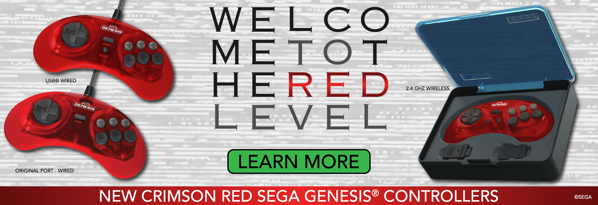 SEGA Genesis Crimson Red - Welcome to the Red Level