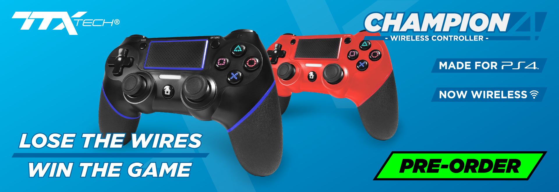 TTX Tech Wireless Champion Controller for PS4