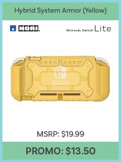 Switch Lite - Case - Hybrid System Armor - Yellow (Hori)
