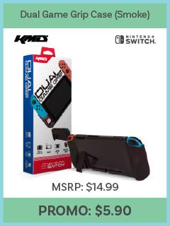 Switch - Dual Game Grip Case (Smoke) - (KMD)
