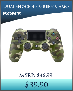 PS4 - Controller - Wireless - DualShock 4 - New - Green Camo (Sony)