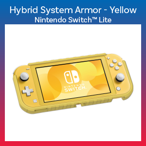 Switch Lite - Case - Hybrid System Armor - Yellow (Hori)