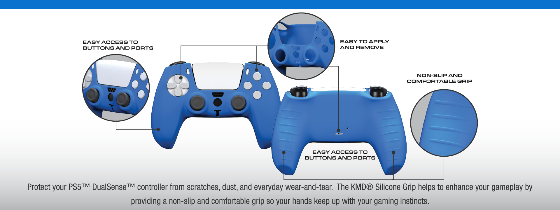 KMD PS5 Silicone Grips 2