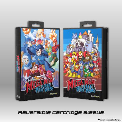 Mega Man: The Wily Wars CE - Reversible Cartridge Artwork