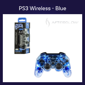 PS3 - Controller - Wireless - Afterglow - Blue (PDP)