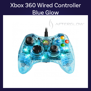 Xbox 360 - Controller - Wired - Microsoft Afterglow - Blue (PDP)