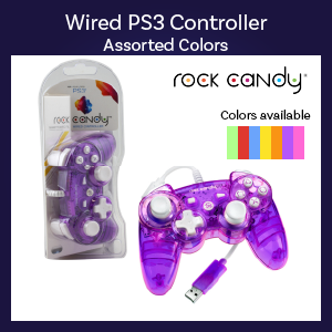 PS3 - Controller - Wired - Rock Candy - Assorted (PDP)