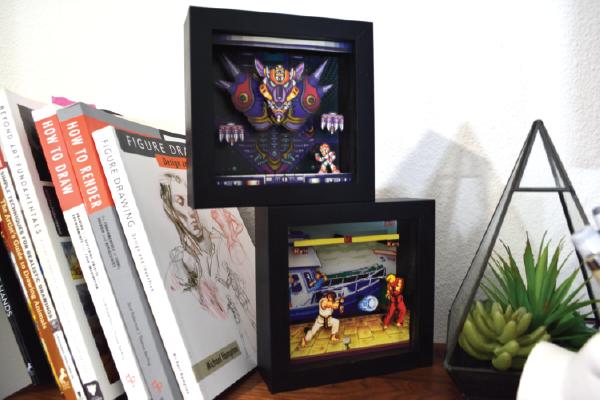 Pixel Frames, Mega Man X, Street Fighter 2, Sonic the Hedgehog, Shadow Box