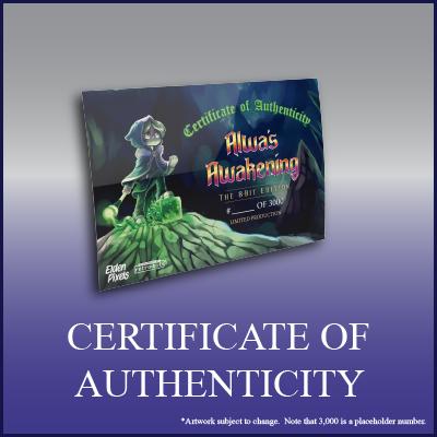 Alwa's Awakening: The 8-Bit Edition - Certificate of Authenticity