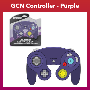 GC Controller - Wired - Purple (For Gamecube/Wii U/Wii)