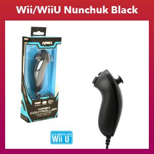 Wii/Wii U - Controller - Wired - Nunchuk - Black (KMD)