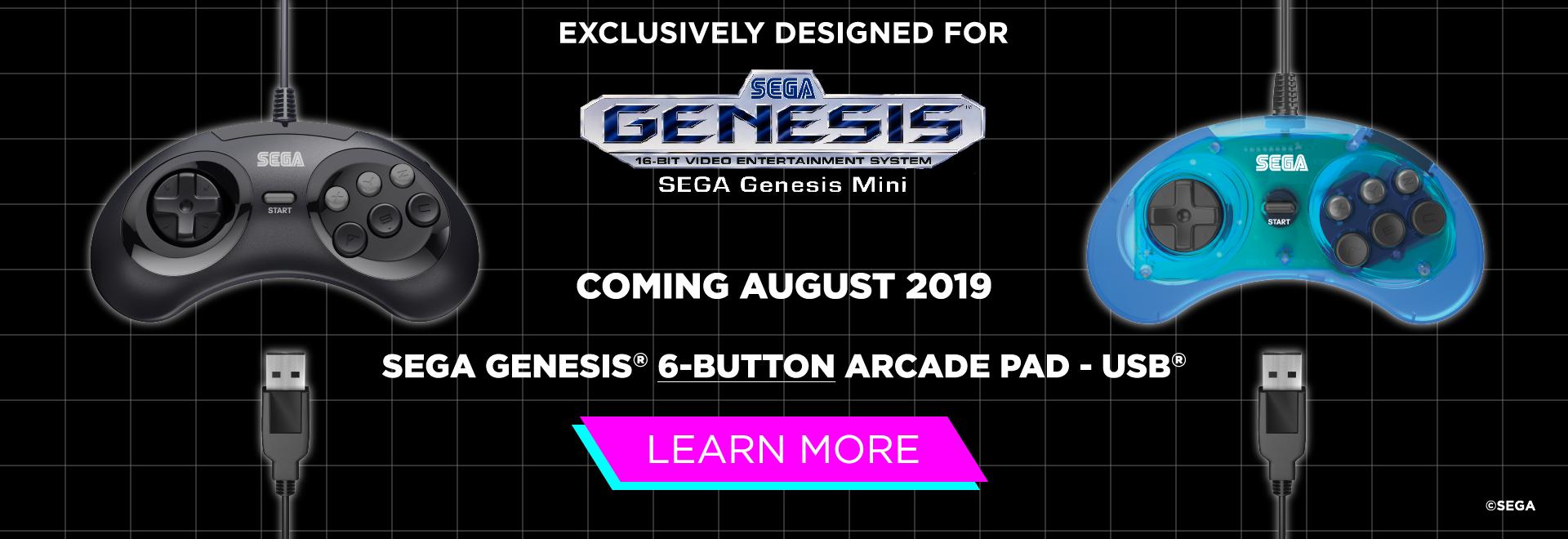 SEGA Genesis Mini, 6 Button, USB, Switch, PS3, PC, Mac, Mega Drive, Retro-Bit, SEGA