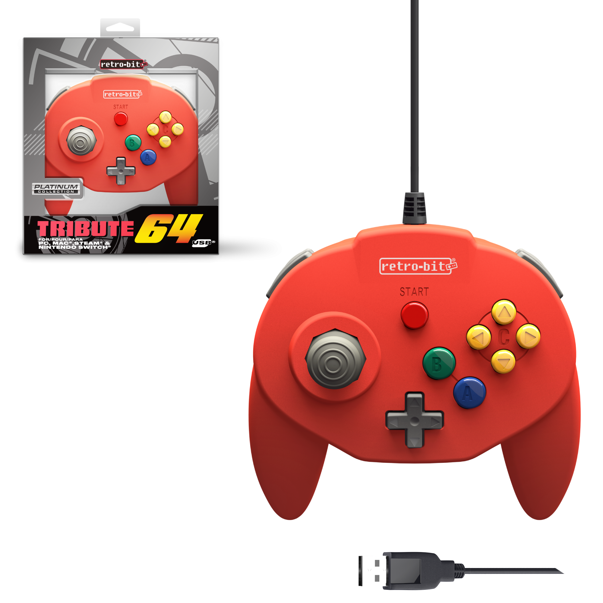 Tribute64 Red - USB