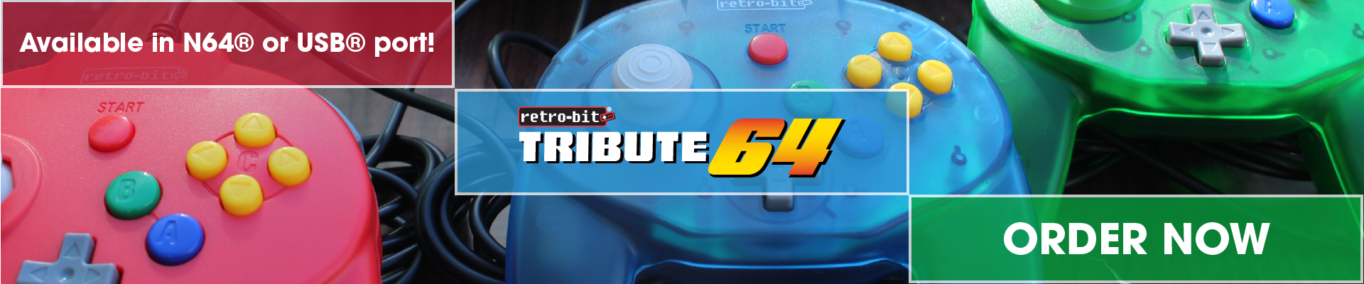 Tribute64, USB, N64, Order Now