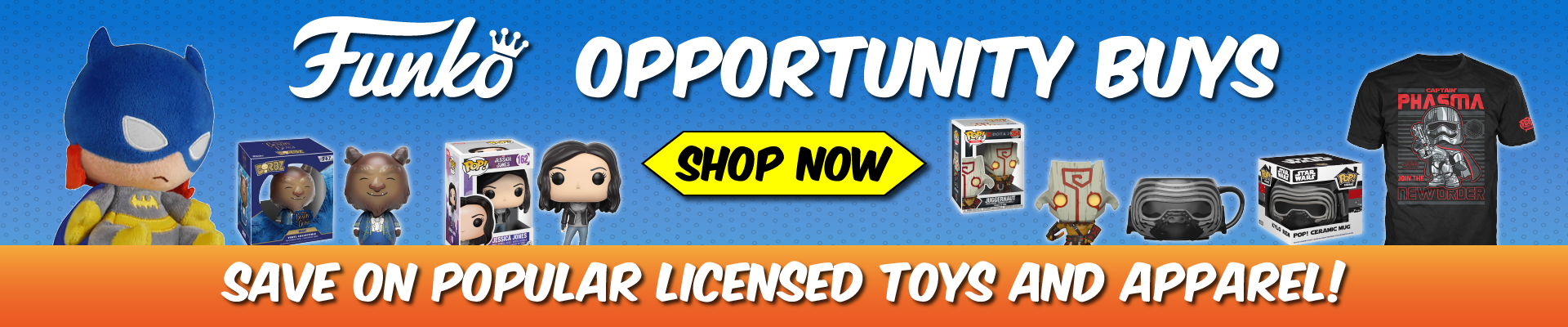 Funko, sale, opportunity, pop, tee, toys, shirts