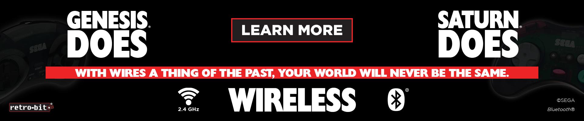SEGA, Genesis, Saturn, 2.4 Ghz, Wireless, USB, Switch, PC, Mac