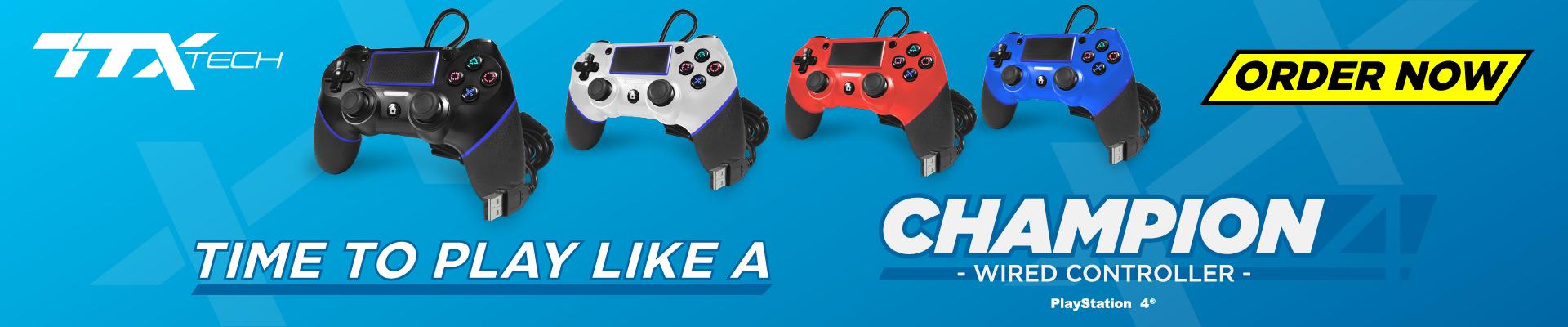 TTX Tech, Champion, PS4, controller