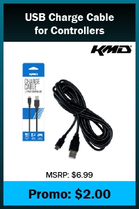 PS4 - Cable - USB Charge Cable for Controllers - 10 ft (KMD)