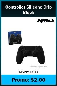 PS4 - Case - Controller Silicone Grip - Black (KMD)