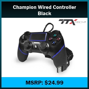 PS4- CHAMPION Wired Controller - BLACK (TTX Tech)
