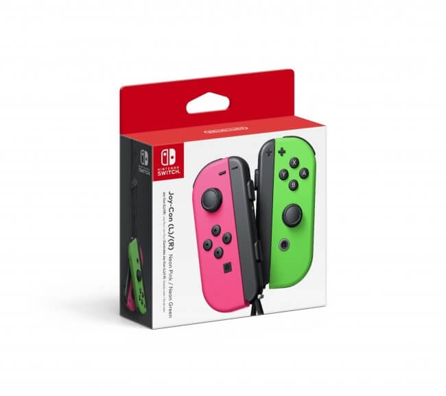 Nintendo Switch Joy-Con (L/R) Controller - Green/Pink