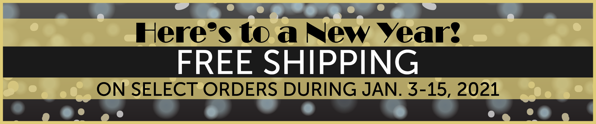 Start the New Year with Free Shipping