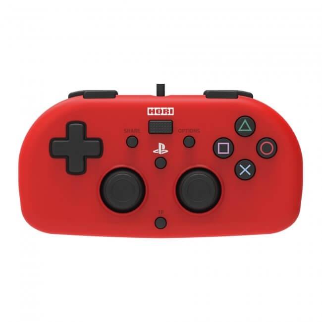 PS4 Hori Mini Wired Gamepad - Red